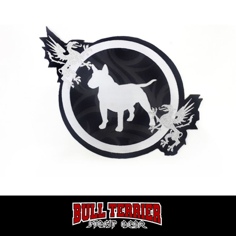 BULLTERRIER Jiu Jitsu Patch Diecut Tribal_black/gray