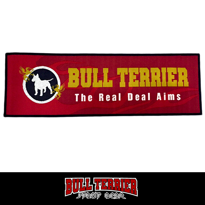 BULL TERRIER Embroidery Patch Traditional FIRE