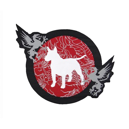 불테리어 패치 - BULL TERRIER Embroidery  Patch Die Cut MUSHIN
