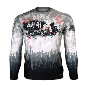 BURN OFF -Wild [FR-158W] Full graphic Loose-fit Long sleeve Crew neck shirt