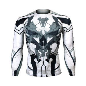 GOLDEN ARMY -Black [FX-131K] Full graphic Compression Long sleeve Rash guard