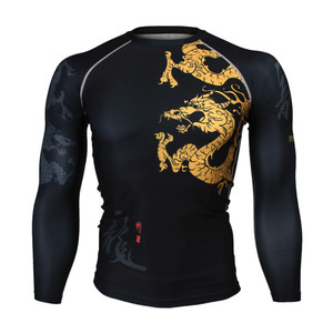 GOLDEN DRAGON [FX-164] Full graphic Compression Long sleeve Rash guard