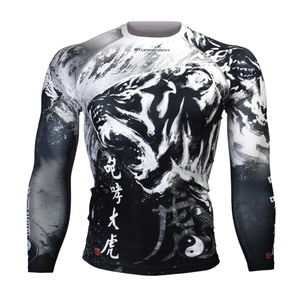 ROARING TIGER -BLACK [FX-138K] FULL GRAPHIC COMPRESSION LONG SLEEVE RASH GUARD