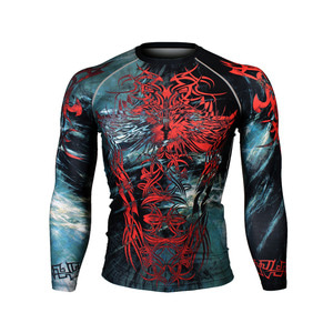 METAL TRIBAL [FX-153] Full graphic compression long sleeve shirt