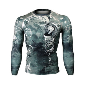 PYRRHIC [FX-152] Full graphic compression long sleeve shirt
