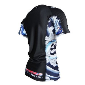 불테리어 래쉬가드 - BULLTERRIER Rash Guard ASHURA Short Sleeve Black
