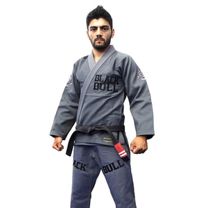 불테리어 주짓수 도복 - BLACK BULL Jiu Jitsu Gi MACHINE Gray