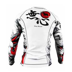 불테리어 래쉬가드 - BULLTERRIER Rash Guard MUSHIN 3.0 Long Sleeve White