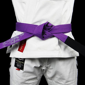 주짓수 벨트 - BULLTERRIER Jiu Jitsu Belt Mushin Purple
