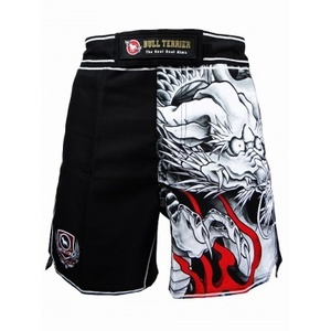 불테리어 파이트쇼츠 - BULL TERRIER Fight Shorts  MUSHIN HALF 3.0 Black