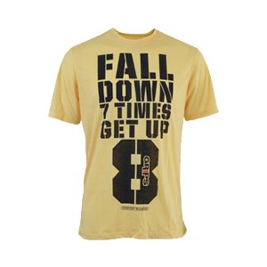 MEN'S GET UP TEE SHIRT - YELLOW