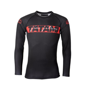 타타미 래쉬가드 -Red Bar Long Sleeve Rash Guard