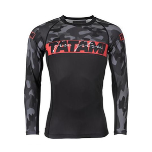 타타미 래쉬가드 - Red Bar Camo Long Sleeve Rash Guard
