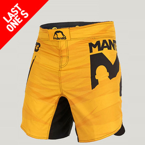 MANTO fight shorts DUAL yellow (오염30%할인)