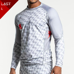 스톰 래쉬가드 -Storm 'Standard Issue' Long Sleeve Rash Guard - Light Grey/White